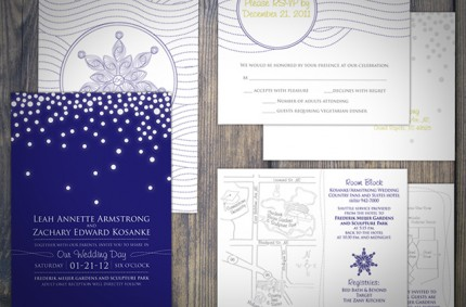 L & Z Wedding Invitation