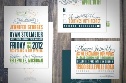 J & R Wedding Invitation