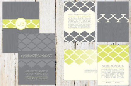 B & L Wedding Invitation