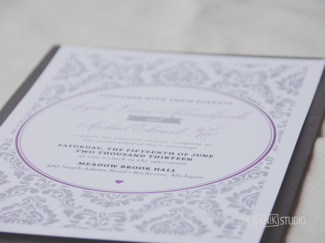 A & M Wedding Invitations
