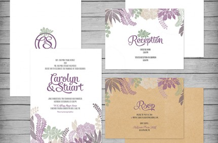 C&S Wedding Invitation