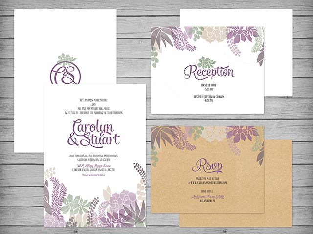 THE PANIK STUDIO Wedding Invitations Freelance Graphic Design
