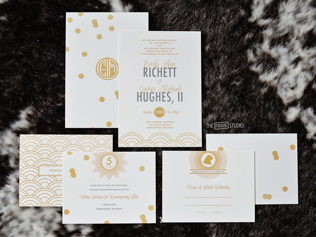 E&M Wedding Invitation Design